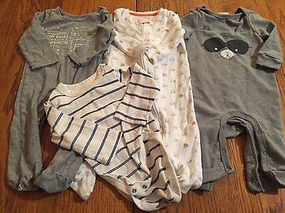 4 outfits Baby Boy 6- 9 mo all long sleeved, 3 with legs 2 footed   EUC