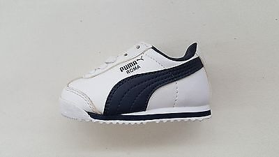 ebb964d2007 Puma Roma Basic Leather White New Navy Blue Toddler Baby Sneakers 354260-05
