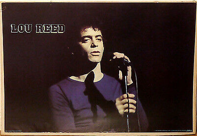 (Prl) 1979 Lou Reed Cantautore Chitarrista Vintage Print Affiche Art Poster