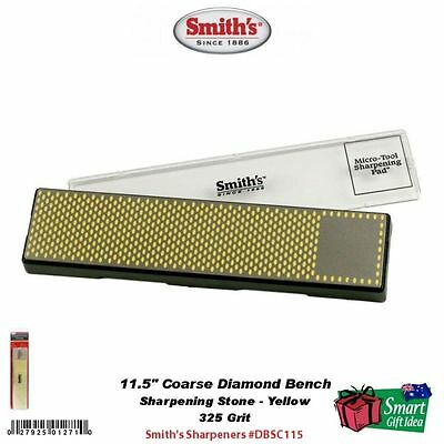 "Smith's Abrasives Diamond Bench Stone, 11.5"" Coarse 325 Grit, Yellow #DBSC115"