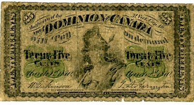 Canada … P-8a … 25 Cents … 1870 … *VG+*