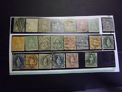 Lot 22 timbres Suisse n°1