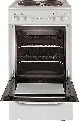 Bush BES50W Free Standing 50cm Single Oven Electric Cooker White