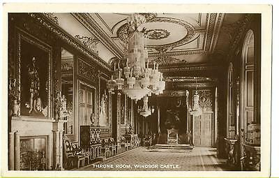 Early Postcard - The Throne Room, Windsor Castle