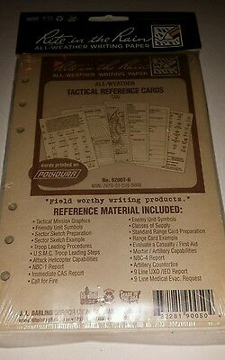 Rite in the Rain All-Weather Military Tactical Reference Cards Tan 4.6X7 9200T-R
