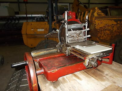 Rare Antique Berkel & Parnall Hand Operated Meat Bacon Slicer Model 21 As Shown