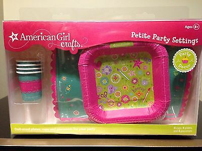 American Girl Crafts Doll Size Plates Cups And Placemats - American Girl Crafts