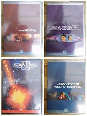 Star Trek DVD Search for Spock, Wrath of Khan, Voyage Home, Undiscovered Country