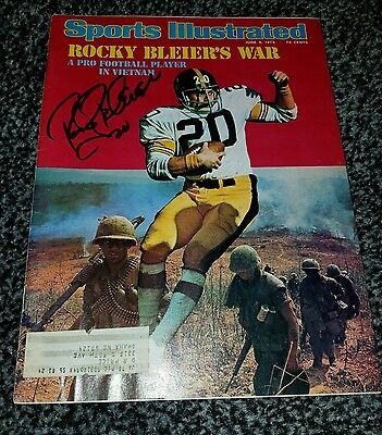 Rocky Bleier Autographed Sports Illustrated Pittsburgh Steelers