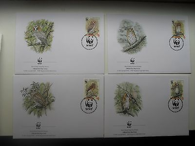 Phillippines  2004  WWF Owlsset complete on FDC