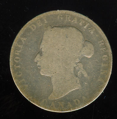 1872 H Canada Silver 25 Cents