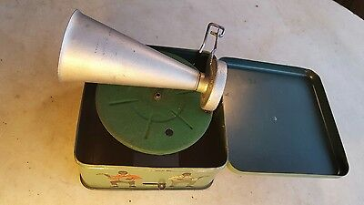 Antique Circa 1925 Bing Pigmyphone Miniature Childs Toy Horn Phonograph-Project
