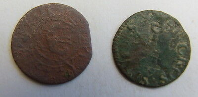 2 x 17th Century Traders Tokens Detector Finds