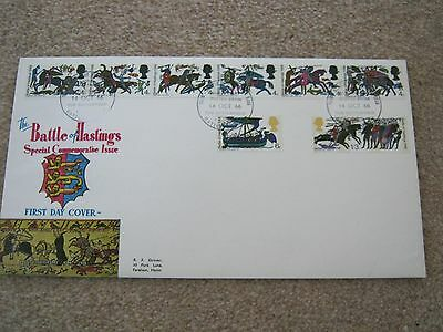 GB Phosphor FDC Battle of Hastings Battle H/S Issued 14 October 1966
