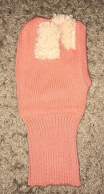 Toddler Girls Peach / Coral Snood (hood / Scarf) Fluffy Ears Age 2 Years BNWOT