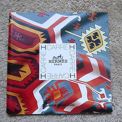Hermes Le Carre Scarf Catalog Book Booklet For The Autumn Winter 2002 Japanese