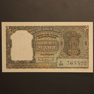 India - Reserve Bank 2 Rupees ND(1962-67) P#31 Banknote Crisp Uncirculated