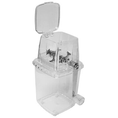 Evelots Manual Ice Shaver Machine, Ice Crusher Snow Cone Maker