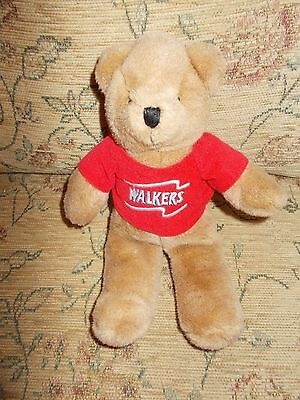 WALKERS CRISP teddy soft toy - 24 cm tall