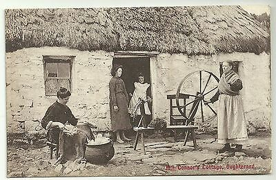 Ireland Co Galway postcard Oughterard Mrs Connors  cottage
