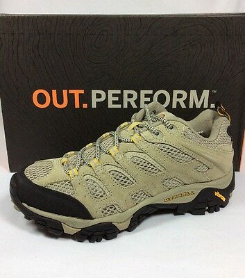 MERRELL Moab Vent women hiking campong leather taupe Sz. 7.5 Wide