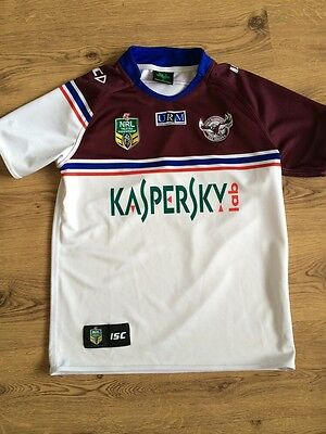 Manly Sea Eagles Rugby League Shirt,Size Medium,Excellent Condition .