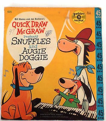 1960 Quick Draw McGraw and Snuffles and Augie Doggie 45 rpm Hanna-Barbera