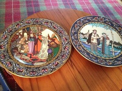 Villeroy and Boch russian fairy tales 2 Snow maiden plates