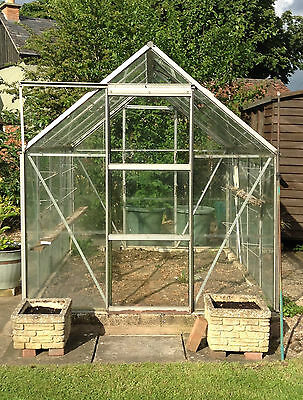 8 X 6 Aluminium & Glass Greenhouse