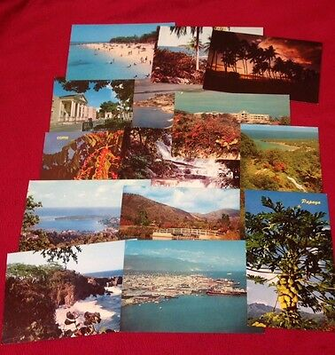 collection of Vintage colour postcards of Jamaica