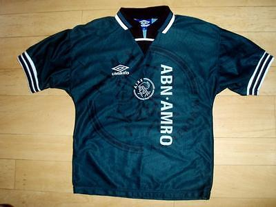 VINTAGE Ajax 1995-96 away football shirt soccer jersey top ages 12-13 years old