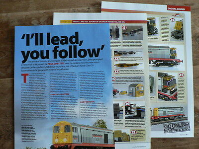 Installing DCC sound in Graham Farish Class 20s - Hornby magazine article