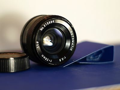 YUS YASHICA  28mm f2.8 Lens, C/Y Mount, Prime, Wide Angle, Avg+ Condition
