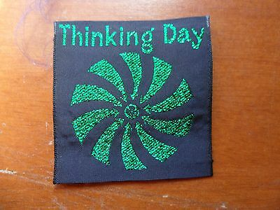 Girl Guides Australia Thinking Day Black and Green Cloth Badge #