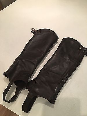 Ariat Concord Leather Chaps Size MT Chocolate/Brown