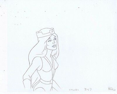 HE-MAN Masters of the Universe Original Animation Pencil Drawing #A15426