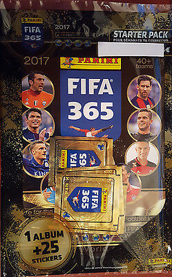 Panini FIFA365 2017 - Starter Pack - French Edition - album with 25 stickers