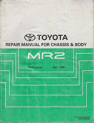 Toyota Mr2 Mk2 Coupe Targa 1989- Original Factory Body & Chassis Workshop Manual