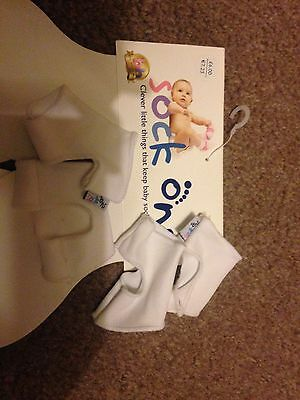 White Sock Ons 0-6 Months 2 Pairs