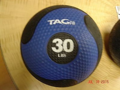 TAG Fitness 30# rubber commercial quality medicine ball med ball new