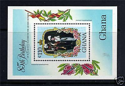 Ghana 1985 Life & Times Queen Mother MS1143 MNH