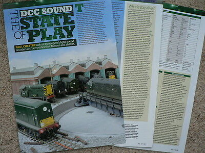 DCC sound decoders features and abilities - Hornby magazine article
