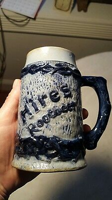 Antique Hires Rootbeer Mug Blue Soda Advertising Fountain