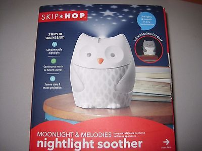 Skip Hop Nightlight Soother, Moonlight and Melodies, White