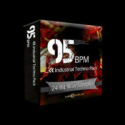 95 BPM Industrial Techno Pack Apple Loops/ AIFF (24Bit) - Download or CD