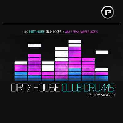 Dirty House Club Drums - Tech House, Deep, Big Room, Funky - Download or CD