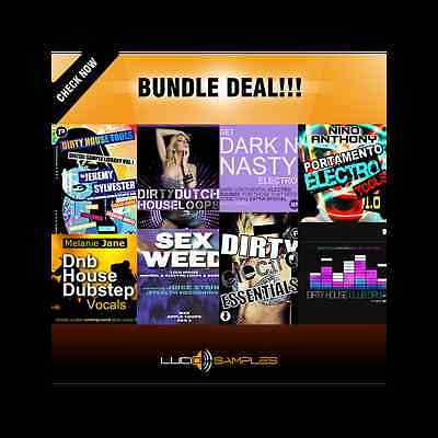 Dirty House Bundle (8 in 1 - 40% OFF!) - house, electro house - Download or CD