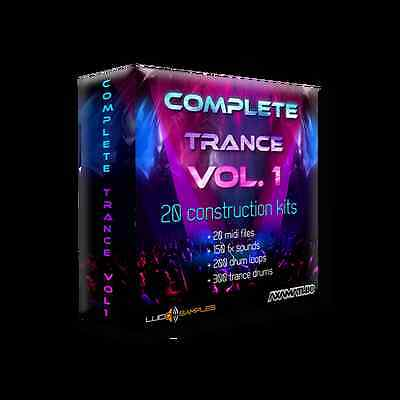 Complete Trance Vol. 1 AIFF + MIDI Files-samples for commercial - Download or CD