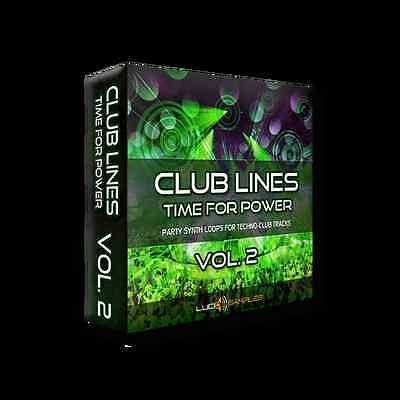 Club Lines Vol. 2 - Time For Power - 687MB Power Techno Loops - Download or CD