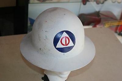 Vintage  World War 2 ? Civilian Defense Helmet